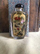 Vintage Perfume Bottle Bird Floral Design Original Case