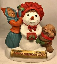 Cairn Christmas 1999-R 1998~Clark/Wolfe Gnome~#6358~Ed #52 Story~Signed by Both