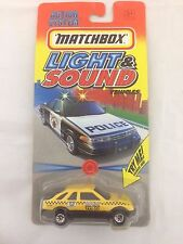MATCHBOX 1996 LIGHT & SOUND FORD SIERRA  TAXI CAB YELLOW