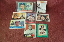 "LOT of EIGHT (8) ""Original"" ""WARREN SPAHN""/""DON NEWCOMBE"" Baseball CARDS"