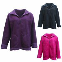 New Women's Thick Fanx Sherpa Fur Shirt Fleece Lined Jacket Jumper Sweater Warm