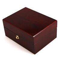 Precious Elegant Solid Wood Wooden Watch Case Storage Box Display w/ Pillow