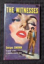 1957 THE WITNESSES by Georges Simenon VF- 1st Hillman Paperback