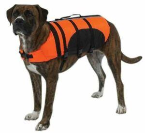 Guardian Gear Aquatic Pet Preserver Safety Life Jacket Orange XX-Large NWT