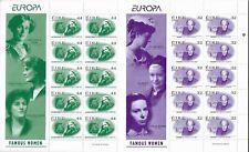 E7719 IRELAND EIRE EURPA FAMOUS WOMEN 2 SOUVENIR SHEETS