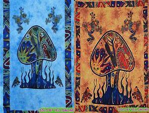 2 piece Mushroom Tapestry Bohomen Indian Wall Hanging Wholesale (77cmX102cm)TO-4