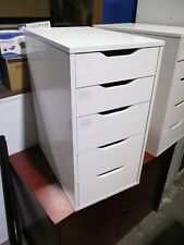 Multi Five Drawer Storage Cabinet Wood White Not Lockable