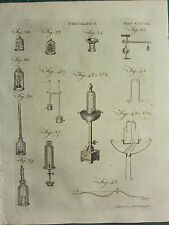 1797 GEORGIAN PRINT ~ PNEUMATICS AIR ~ VARIOYS EQUIPMENT APPARTAUS