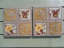 Pair of Antique English Victorian Tiles Rd No Lozenge Mark
