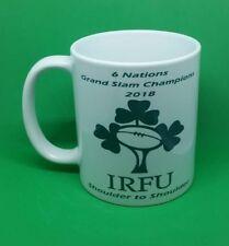 Ireland Rugby mug 6 nations champions grand slam winners 2018 shoulder coffee...
