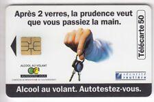 VARIETE TELECARTE FRANCE .. 50U F683A SO3 ALCOOL VOLANT 09/96 JAG UT/TBE C.24€