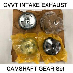 New OEM CVVT Intake Exhaust Camshaft Gear Set for Hyundai Kia 3.3L 3.8L 07-14
