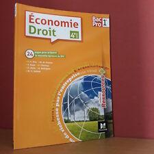 Jean-Charles Diry  ECONOMIE-DROIT - 1re BAC PRO (4° Ed. Foucher) Réf. 66 9346 4