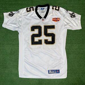 Reebok NFL New Orlean Saints #25 Reggie Bush XLIV Super Bowl On Field Jersey -48