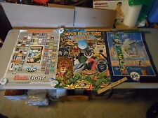 LOT OF 3 SUPER BOWL POSTERS,SAN DIEGO 1998,TAMPA BAY 2001,SAN DIEGO 2003,NFLBALL