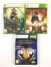 Lot 3 Jeu Xbox 360 Fable / Fable 2 II GOTY + 3 III + Journey