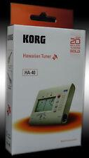 Korg HA-40 Hawaiian Tuner for Ukelele or Bass Guitar And Steel Guitar Tuner