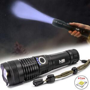 Taschenlampe Led 1000 meter Leuchtweite Militär Taktische USB Wiederaufladbar