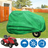 Lawn Mower Tractor Green Polyester Fabric Waterproof AntiUV Cover Universal