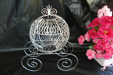 Silver Cinderella Carriage (Use for Wedding Centerpiece or Baby Decorations) - S