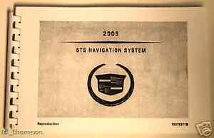 GM 2005 Cadillac STS Navigation Manual #10376371B