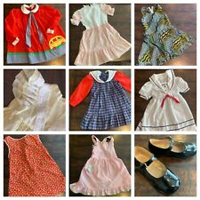 Vtg Lot Girls Clothes 3 4 Dresses Tops Swiss Dot Polly Flinders 60s 70s 80s A13