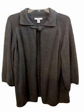 Dress Barn Woman Plus Size 18/20 Gray Sweater Large Button Closure Swing Style