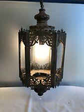 Art Nouveau Swag Hanging Lamp Missing Glass