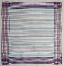 Vintage Handkerchief SILK Hankie Mens Top Pocket Square CHECKED