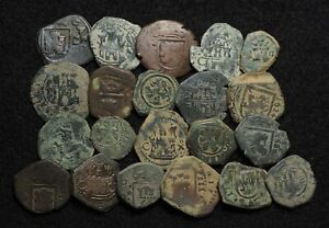 SPAIN. Lot of 21 Quality Cob Maravedis and others, 1500-1600's