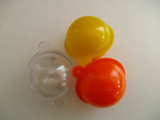 SET OF 9 ROUND  BUBBLE FLOATS 35mm  ASSORTED COLOURS - CLEAR / ORANGE / YELLOW