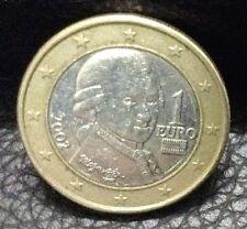 1 EURO Coin 2002 Austria Wolfgang Amadeus Mozart