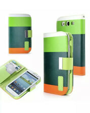 for Samsung Galaxy S3 i9300, Faux Leather Wallet Case Cover Card Holder Stand