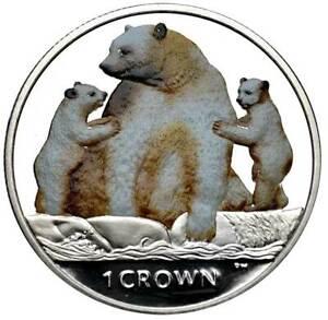 ISLE OF MAN 1 Crown 2013 PL Coloured Kermode 'SPIRIT' Bear