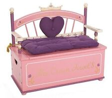Levels Of Discovery Princess Bench Girl Toy Box Bench Seat With Storage Box  New.