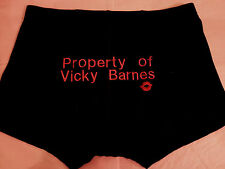 Personalised Men Anniversary Wedding Birthday Boxer Shorts Gift Husband LIPS Red