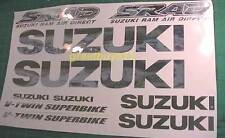 TL1000R suzuki Chrome Decals Graphics Sticker 14pc Kit +Flames PICK ANY COLOR