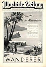 Wanderer Automobile XL Reklame 1929 Reise Palme Strand Werbung Damen 20er Jahre