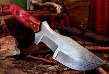 5Mm Full Tang Twist Pattern Damascus Steel Hunting Tracker Bush Knife A 54