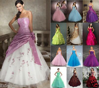 Formal Stock New Wedding Party Prom Evening Ball Gown Bridesmaid Dress Size 6-18