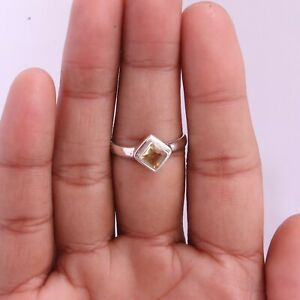 Citrine Gemstone Jewelry 925 Sterling Silver Ring Size 9 For Women KB11162