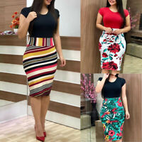 Sexy women's business office dress formal knee-length bodycon pencil dresses