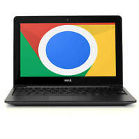 "Dell Chromebook 11.6"" Laptop Computer Intel Dual Core 4GB RAM 16GB SSD WiFi HDMI"