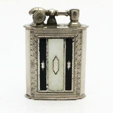 Vintage Evans Lift Arm Lighter GLASS ENAMEL Panel Black & White - WORKING