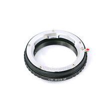 LEICA M Leitz Mount Lens to CANON EOS M Mirrorless Camera Mount Adapter Ring -AU