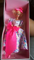 1990 Barbie Style Collector Doll Special Limited Edition Pink Neon Bow   NIB