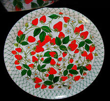 """Hallmark Serving Tray Strawberries Signed Mary Ann 14"""""""