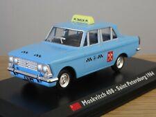 ALTAYA IXO LEO MOSKVITCH 408 TAXI ST PETERSBURG 1964 CAR MODEL MJ33 1:43