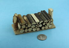 1:12 Scale Dollhouse Miniature Firewood Log Pile in a Wooden Log Stand #SD2318
