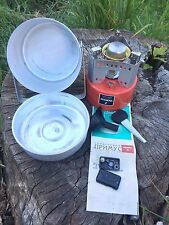 NEW VTG USSR Soviet Camping Stove Gasoline Petrol Primus RED SHMEL 2 with CASE